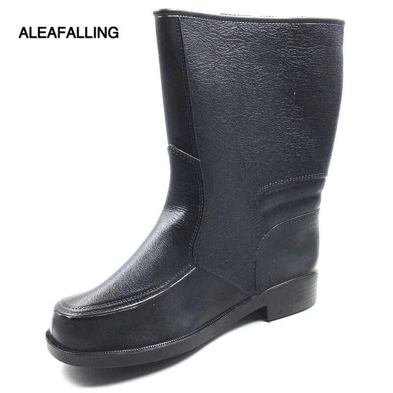 Sporting Aleafalling Küche Männer Regen Stiefel Britischen Plattform Pvc Wasserdichte Synthetische Schuhe Alle-saison Herd Reife Motorrad Bootsm067 Home