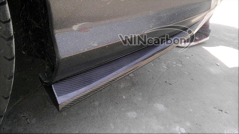 Carbon Fiber Rear Bumper Side Skirt Add on Lip For 2012 W204 C250 C350 C63AMG