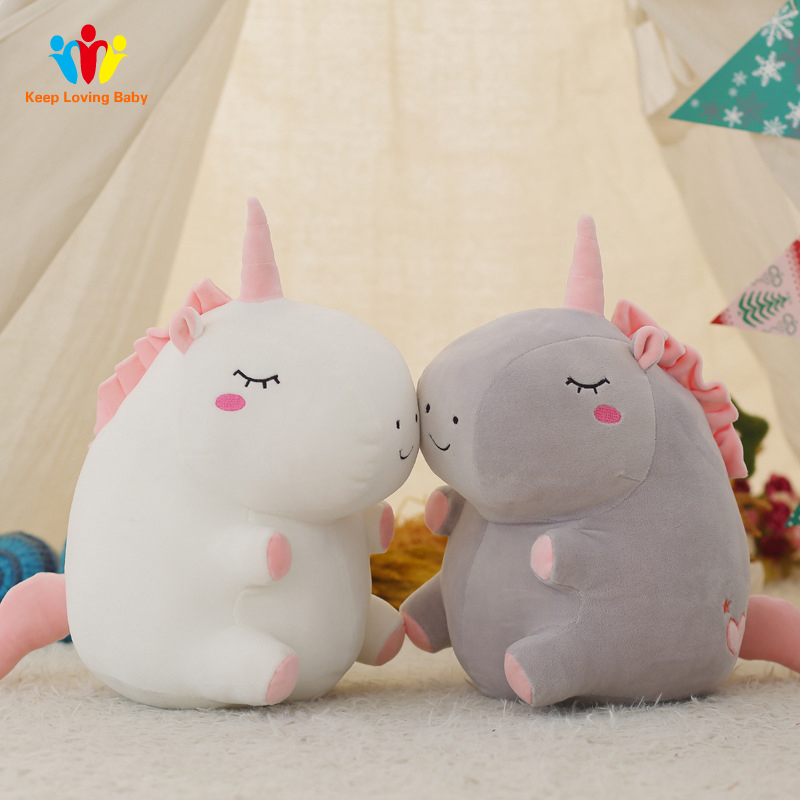 Newborns Baby Pillow unicorn Cotton toys Pillow Baby Room Decoration Plush toys Bedding sleep pillow Childrens birthday Gift