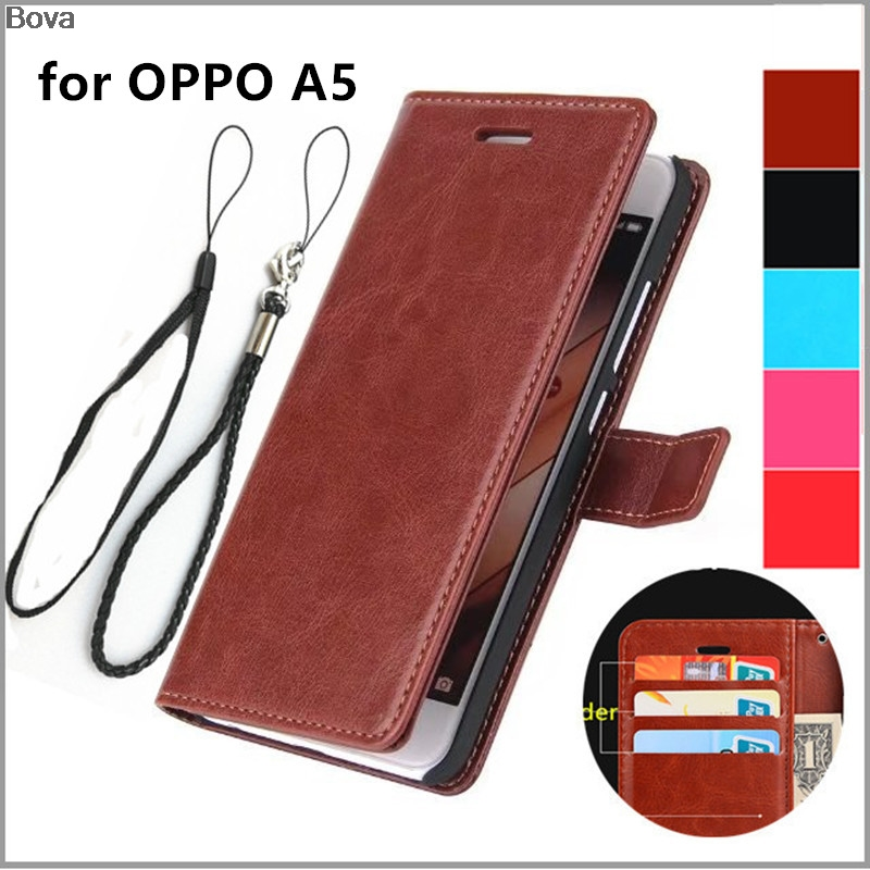 OPPO A5 A3s A7 card holder cover case for OPPO A5 A3 A7 6.2-inches Pu leather case  wallet flip cover