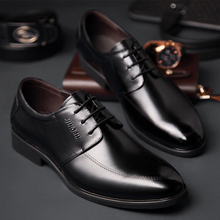 Hot Sale Men's Flats Shoes Men Business Dress Genuine Leather Flat Shoes Brand Mens Loafers Oxford Shoes For Men Wedding Shoes