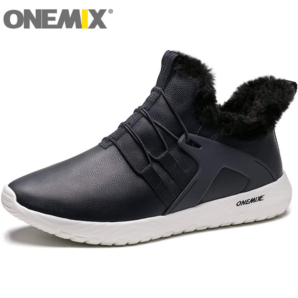 ONEMIX أحذية المشي لمسافات طويلة وخفيفة الوزن للرجال في الهواء الطلق الركض رياضة اللياقة البدنية أحذية رياضية دافئة