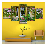 5 PCS Full Diamond Embroidery Window Flowers Diy Diamond Paintings Full Mosaic Wall Art Modular Pictures