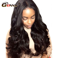 Gossip 180% Density Body Wave Lace Front Wig Remy Hair Human Lace Front Wigs For Women Black Lace Wig Brazilian Frontal Lace Wig