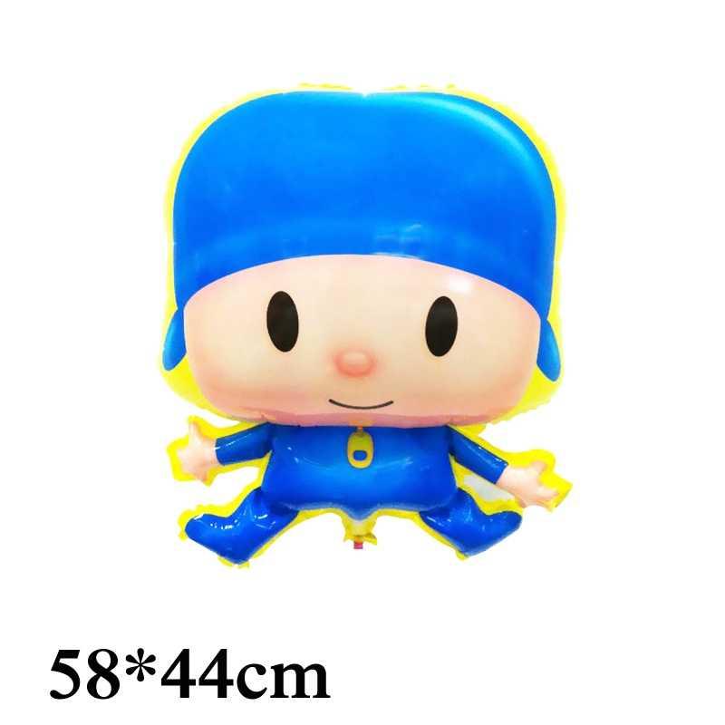 1 pc dos desenhos animados Pocoyo balões folha irregular estilo 58*44 cm tamanho kid brinquedos pocoyo balão para brinquedos das crianças balão de festa de abastecimento