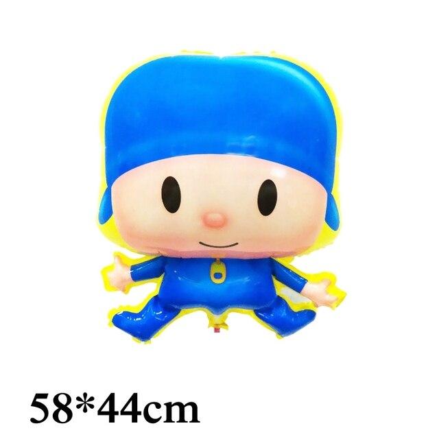1pc dos desenhos animados Pocoyo balões folha irregular estilo 58*44cm tamanho kid brinquedos pocoyo balão para brinquedos das crianças balões de festa