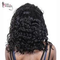 Del frente del cordón pelucas del pelo humano del 250% densidad Bob peluca suelta la onda Malasia del pelo corto Bob pelucas natural negro siempre belleza remy