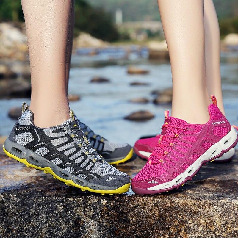 Hiking Shoes Men Trekking Outdoor Summer Climbing Zapatillas Hombre Treking Deportiva Woman Breath Waterproof Mountain Sneakers