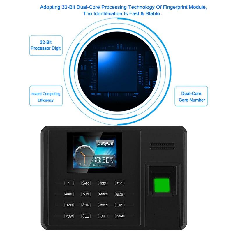 Système de présence Eseye empreinte digitale TCPIP USB mot de passe bureau horloge employé enregistreur dispositif biométrique temps de présence - 4
