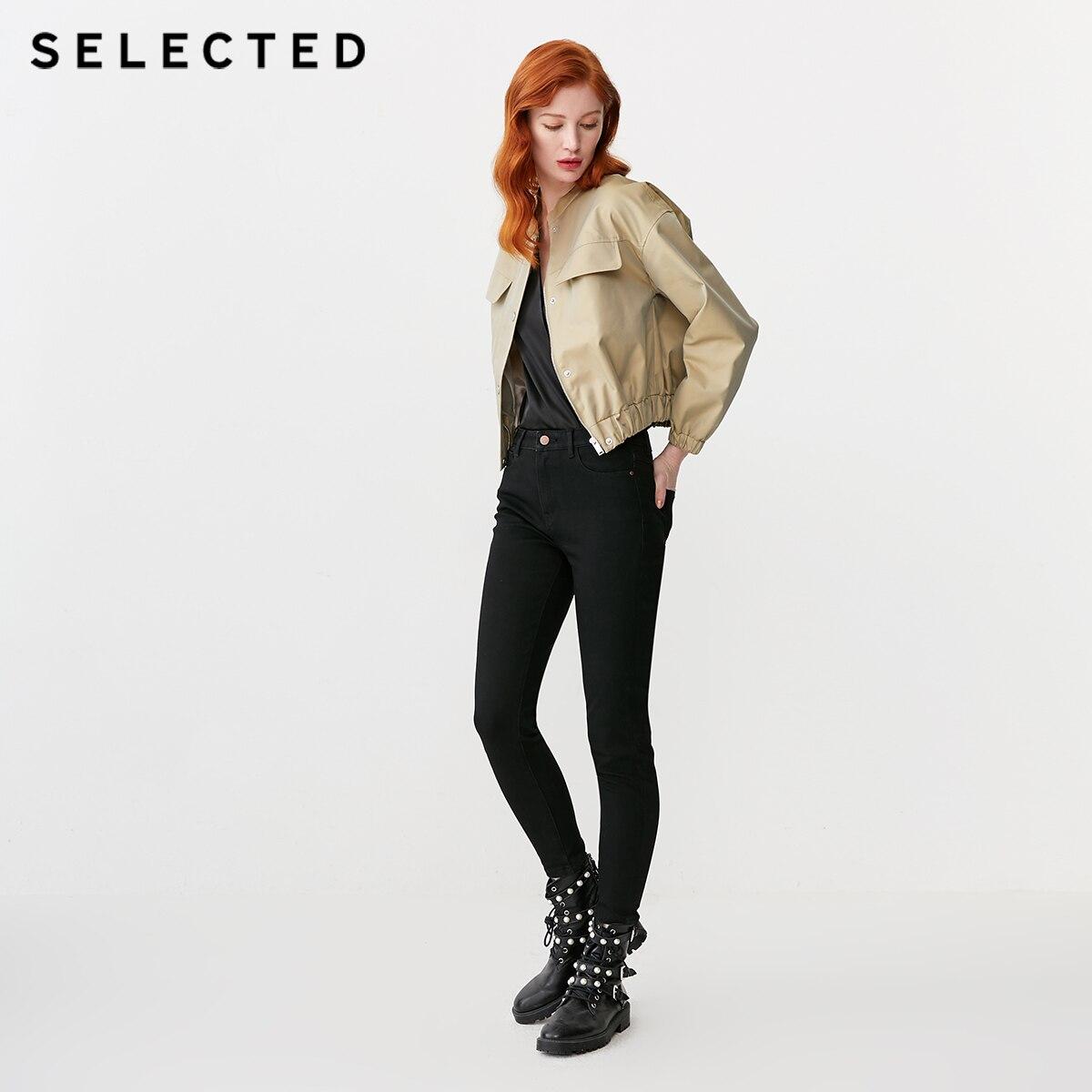 เลือกผ้าฝ้าย rich Stand up Collar เสื้อแขนยาว S  419121511-ใน โค้ทยาว จาก เสื้อผ้าสตรี บน   2