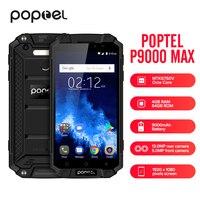 Poptel P9000 MAX 4G Smartphone IP68 MTK6750V Octa Core 4GB 64GB Waterproof Shockproof Mobile Phone 9000mAh Big Battery EU PLUG