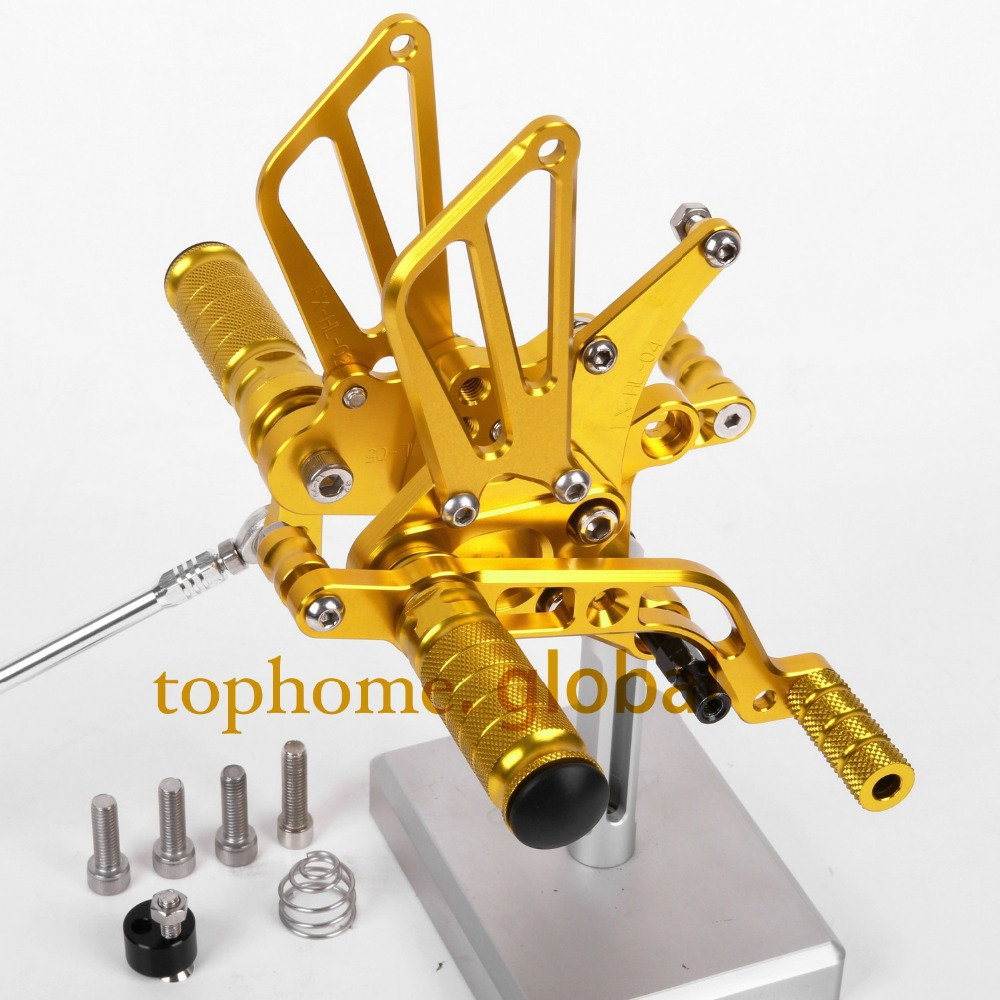 CNC Motorcycle Parts Golden Color Rearsets Foot Pegs Rear Set For BENELLI BJ600GS 2010-2013 2011 2012
