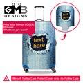 Dispalang personalizado personalizado denim bagagem capa protetora para homens trecho elástico mala proteger capas para 18-30 polegada