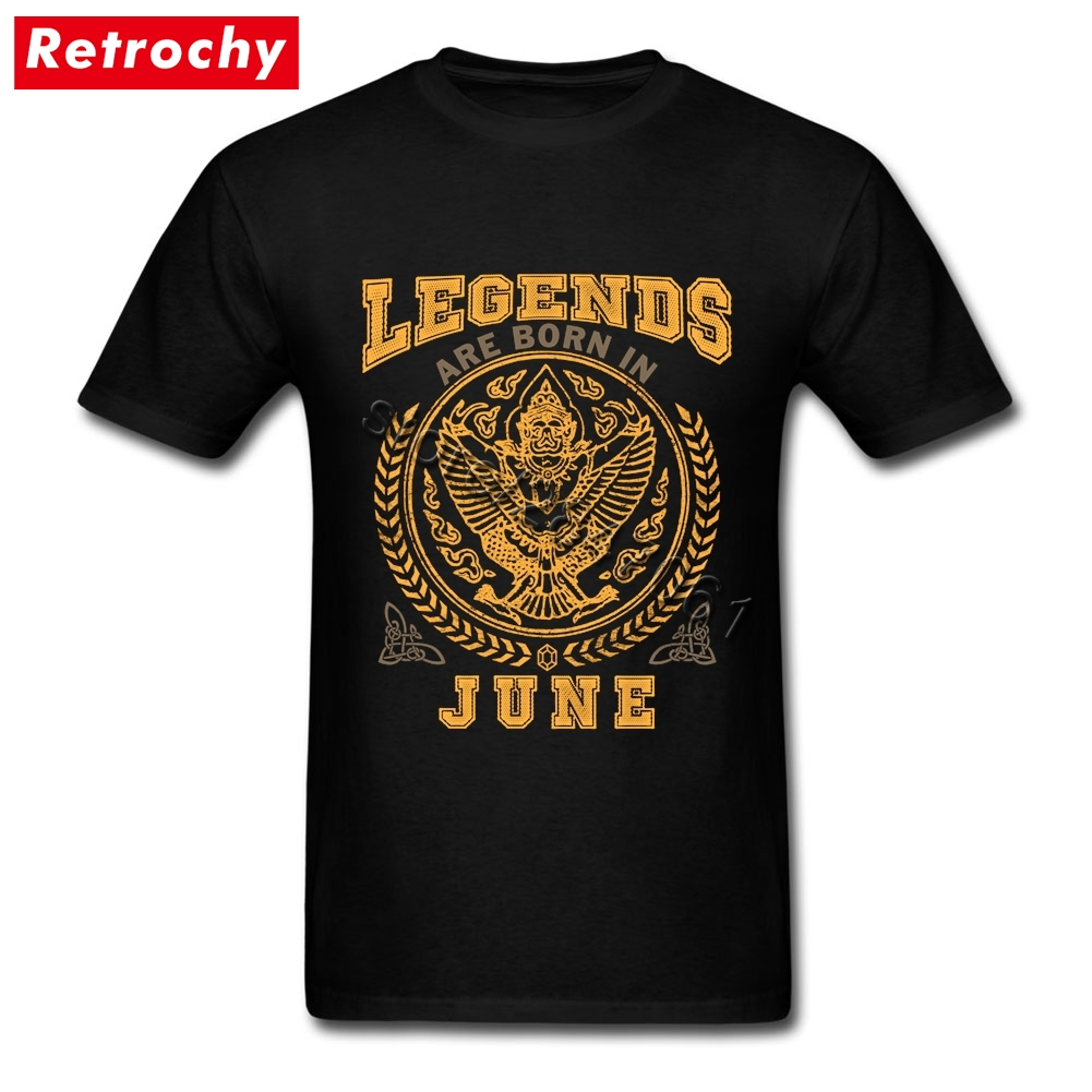 Legends Are Born In June Tees Shirt for Boy Retro Looking  TShirts Crew Neck Cheap Price Brand T Shirt Valentines Day