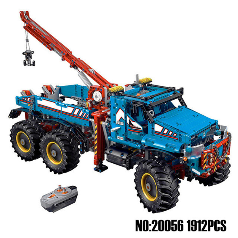 Lepin 20056 Technic The Ultimate Terrain 6X6 Remote Control Truck Set Building Blocks Bricks Toy Compatible with Legoingly 42070 20030 technic ultimate series the off roader set children building blocks brick toy model gifts competible with legoingly 8297