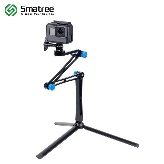 Smatree X1S Foldable Pole/Monopod for GoPro Hero 8/7/6/5/4/3+/3/Session,Ricoh Theta S/V,for DJI OSMO Action Cameras,Cell Phones