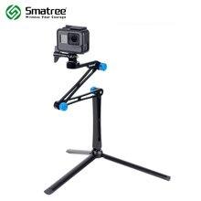 Smatree X1S Pieghevole Pole/Monopiede per GoPro hero 8/7/6/5/4/3 +/3/Session, ricoh Theta S/V, per DJI OSMO Action Macchine Fotografiche, Telefoni Cellulari