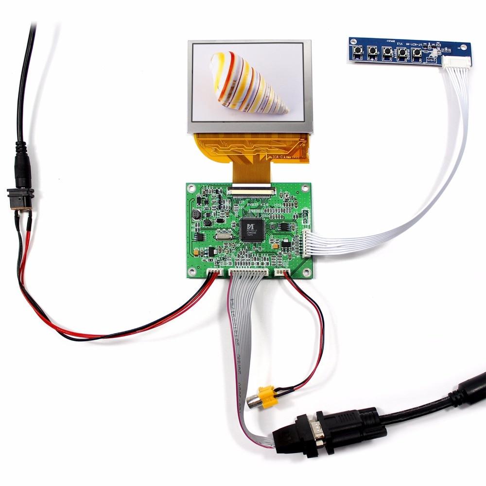цена на VGA AV LCD Driver Board VS-PVI035V1.0+3.5 PD035VX2 640x480 LCD Screen