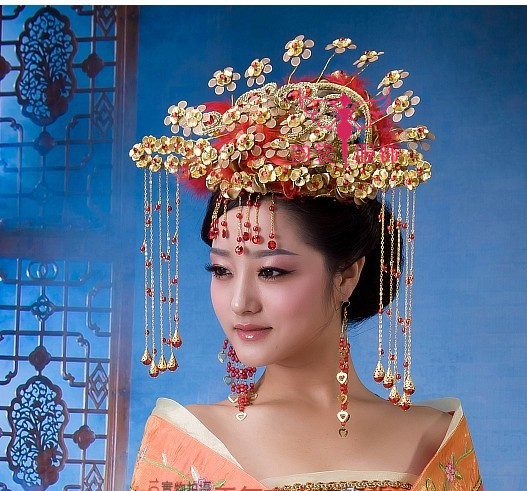цена на Female costume hair accessory  cheongsam  bride wedding coronet classical tang suit hanfu hair tiaras