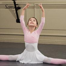 Sansha inverno três quartos mangas aquecer topo ballet dança prática camisola dancewear 84ag0001