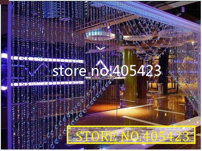 Free Ship!160m/lot (curtain Size 7.8m*2.5m) Window Door AAA+ Shining Crystal Bead Curtain Wedding Event Decoration Room Divider