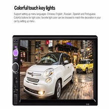 Hot 2 Din Car Video Player 7 HD Touch Screen Bluetooth Stereo Radio Car MP3 MP4 MP5 Audio USB Auto Electronics In Dash