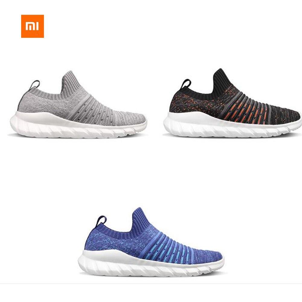 Nouveau Xiaomi Mijia FREETIE chaussures tissées à la mode pour hommes modèles volants tissés supérieure EVA amorti semelle extérieure conception de chaussette