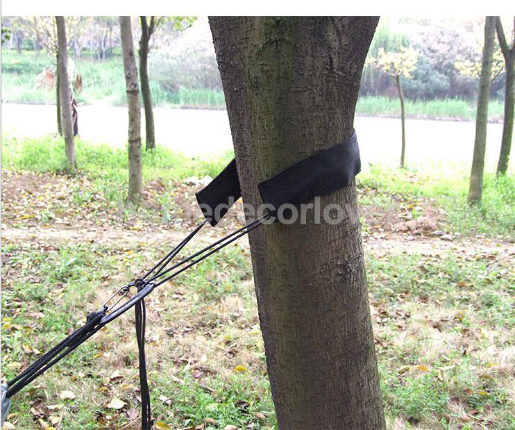 400kg Black Adjustable High Strength Hanging Hammock Tree Sling Straps 100% uhmwpe fiber 4 line 1red in 400kg 1blue in 400kg 2grey in 400kg x 25m kitesufing line set end looped