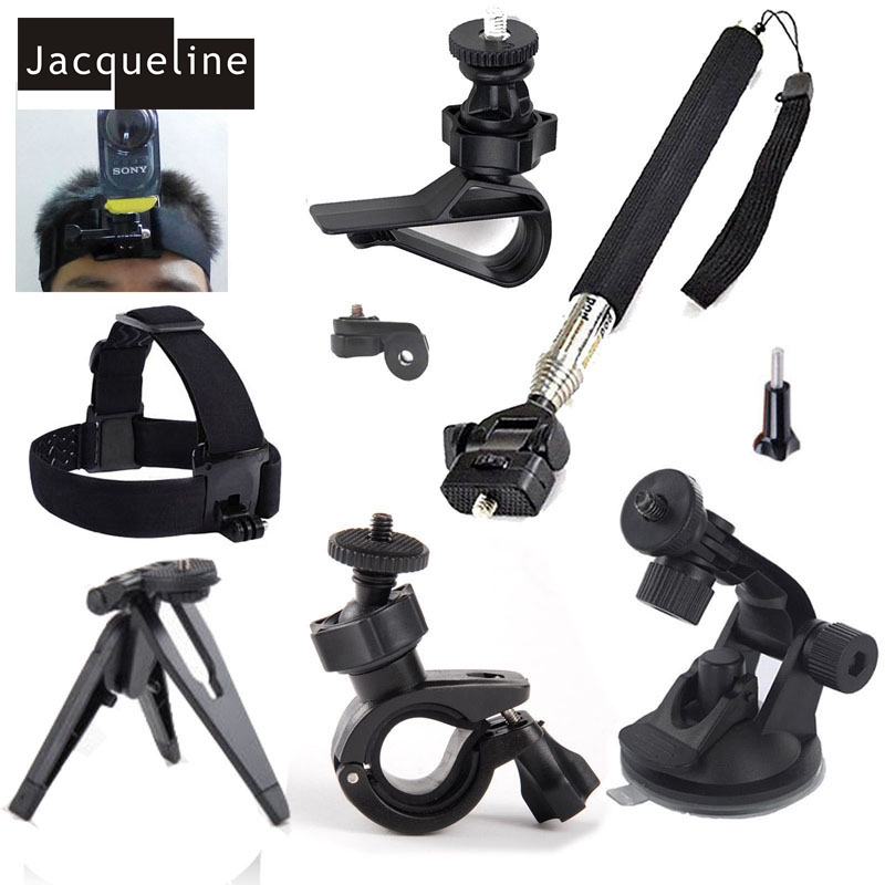 Jacqueline per Gli Accessori Kit Treppiedi Monopiede Supporto per Sony Action Cam AS20 HDR-AS15 AS30V AS100V AS200V AS50 Fdr-x1000