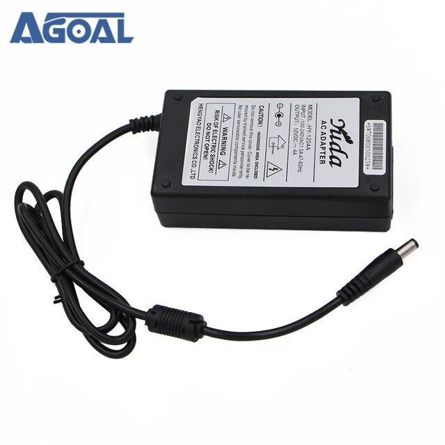Adaptateur dalimentation 12V 4A 48 W, AC 100-240V à DC, pour moniteur de caméra de sécurité en bande, V56 US/UK/EU/prise Standard