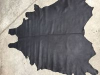 whole piece black Genuine cow skin leather raw material