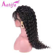 Lace Front Human Hair Wigs Indian Deep Wave Pre Plucked With Baby 180% Density Remy 13x4