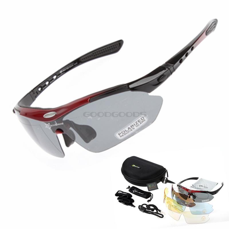 26dd06f2bbb RockBros Polarized 5 Lens Outdoor Sports Hiking Climb Bicycle Cycling Sun  Glasses Bike Sunglasses TR90 Eyewear Goggles-in Cycling Eyewear from Sports  ...