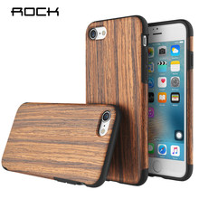 Rock For iPhone 7 Plus Origin Series Wood Pattern Soft Silcone Case Luxury Phone Housing Back Cover For Apple iPhone 7 /  7 Plus цена 2017
