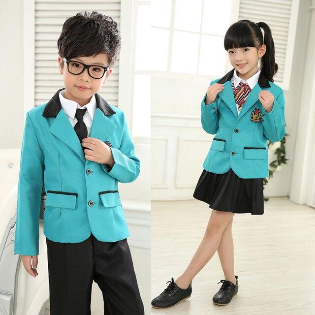 Детский Начальная Школа Униформа Студенты Хором Костюмы Одежда С Коротким рукавом летом Британский Студент Школьная форма