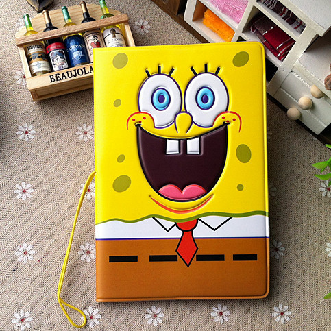 SpongeBob SquarePants 3D Stereoscopic Passport Cover Passport Holder Documents Taoka Kit - Essential Travel Abroad