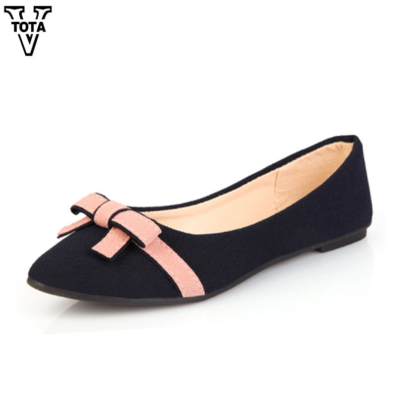 VTOTA Spring Autumn shoes woman Butterfly-knot Flats Women Shoes Slip-On Casual Shoes Flat Zapatos Mujer Soft Female Shoes 606