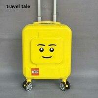 Путешествия сказка мультфильм детей 16 дюймов Размер PC рюкзак Плюс Прокатки Чемодан Spinner бренд дорожного чемодана Мода