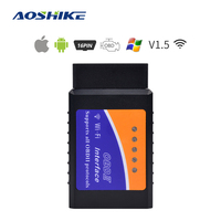 Aoshike elm327 obd detector de falhas carro obd2 wifi ferramenta diagnóstico tuning carro universal scanner automotivo com ios