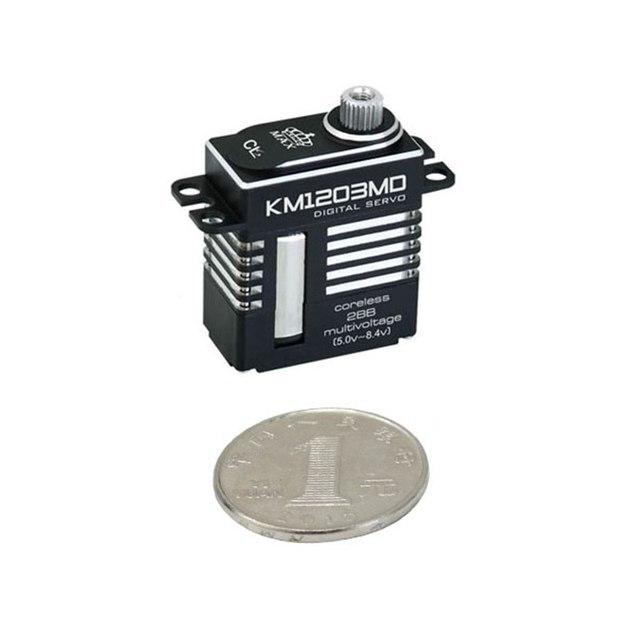 FATJAY KINGMAX KM1203MD 20g 9kg.cm digital metal gear mini servo full CNC aluminum case for RC or 450 class heli tail