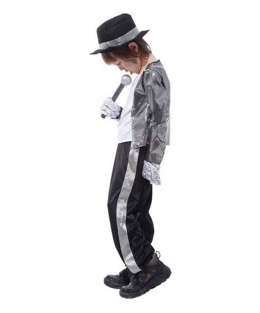 Boys Halloween Costume Michael Jackson Billie Jean Child Fancy Dress Costume Kids Performance Clothing dance wear  sc 1 st  AliExpress.com & Boys Halloween Costume Michael Jackson Billie Jean Child Fancy Dress ...