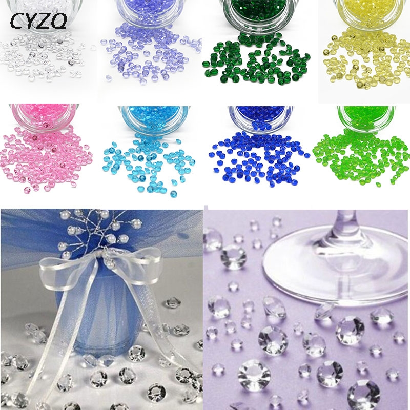 1000PCS 4.5mm Acrylic Crystals Confetti Wedding Table Scatters Decoration  Centerpiece Event Party Supplies