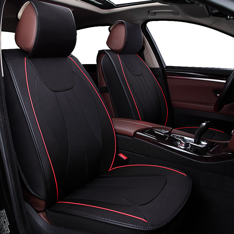 KOKOLOLEE Flax Car Seat Covers for Jaguar XE seat covers auto accessories for seat protection PU leather cover seats cushions back seat covers leather car seat cover for bmw e30 e34 e36 e39 e46 e60 e90 f10 f30 x3 x5 x6 car accessories car styling