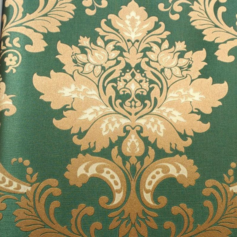 Popular italian style wallpaper buy cheap italian style for Cheap green wallpaper