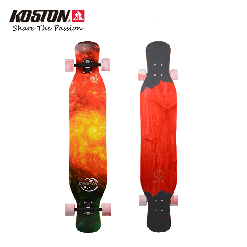 Koston Professional Long Board Completes Constellation Series Walking Dancing Skateboard 46 Inch Mixed Materials Longboard koston longboard skateboard scooter black skate helmet