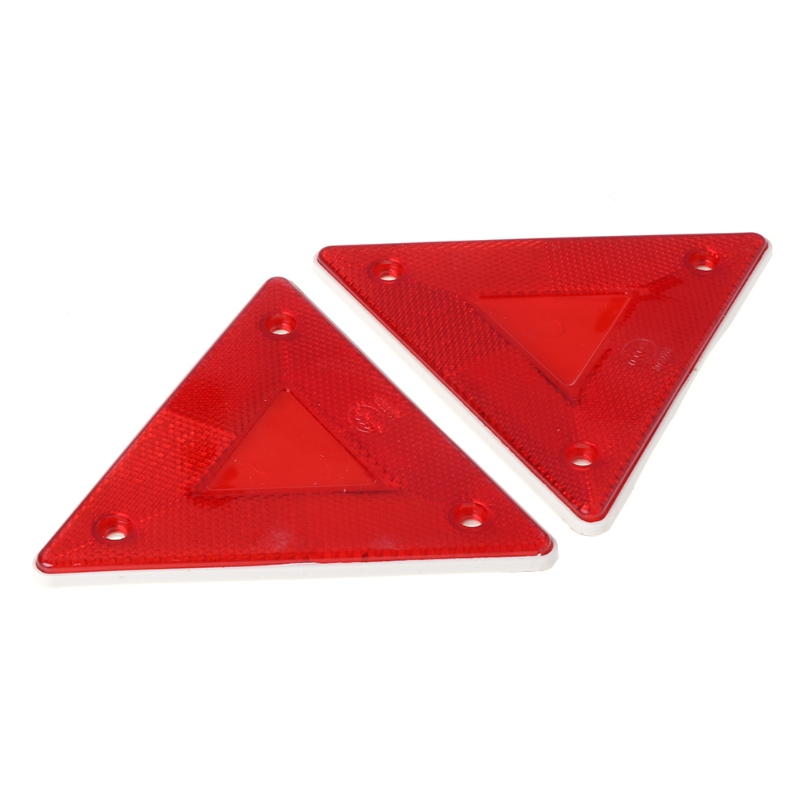 2 Pcs Triangle Warning Reflector Alerts Safety Plate Rear Light Trailer Fire Truck Car Drop Shipping Support