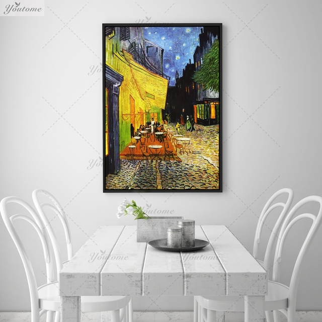 Cafe Terrace at Night Giclee poster By vincent Van Gogh print Wall ...