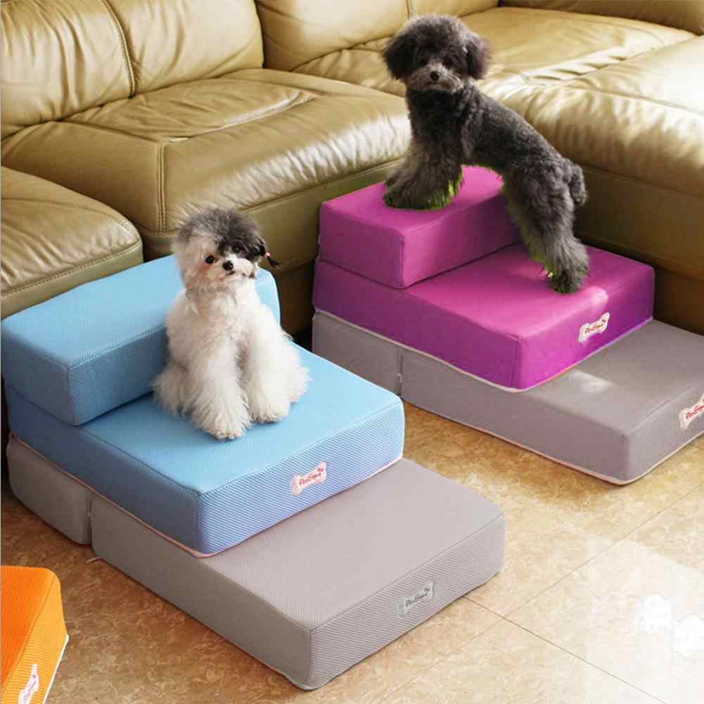 Pet Stairs Breathable Mesh Foldable Pet Stairs Detachable Pet Bed Dog Ramp 2 Steps Ladder For Small Dogs Puppy Cat Dropshipping