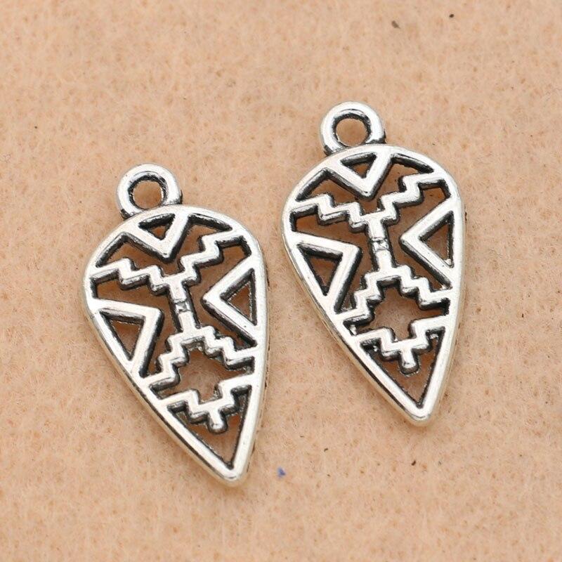10PCS Tibetan Silver OM Symbol Charms Pendant Bracelet Necklace Beads Crafts