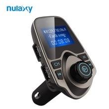 Nulaxy Coche Reproductor de MP3 Transmisor FM Bluetooth Car Kit Manos Libres Audio MP3 Modulador W 1.44 Pulgadas de Pantalla Del Coche Del USB 2.1A cargador